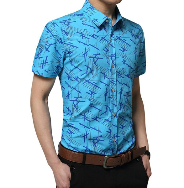 Colorful Short Sleeve Summer Shirts - Casual Shirts - eDealRetail - 2