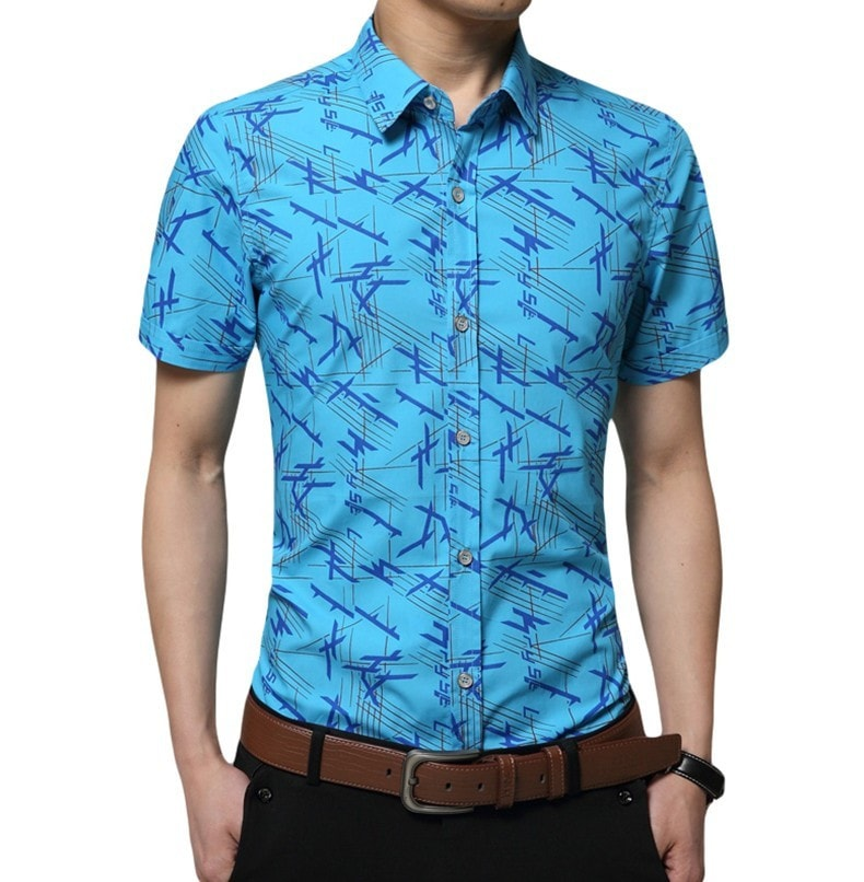 Colorful Short Sleeve Summer Shirts - Casual Shirts - eDealRetail - 1