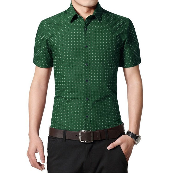 Designer Short Sleeve Dotted Shirts - Casual Shirts - eDealRetail - 8