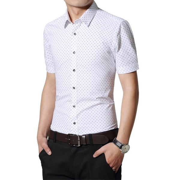 Designer Short Sleeve Dotted Shirts - Casual Shirts - eDealRetail - 3