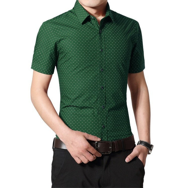 Designer Short Sleeve Dotted Shirts - Casual Shirts - eDealRetail - 9