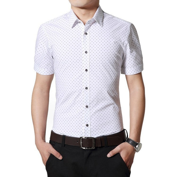 Designer Short Sleeve Dotted Shirts - Casual Shirts - eDealRetail - 2