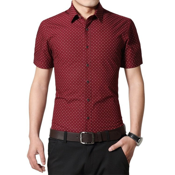 Designer Short Sleeve Dotted Shirts - Casual Shirts - eDealRetail - 4