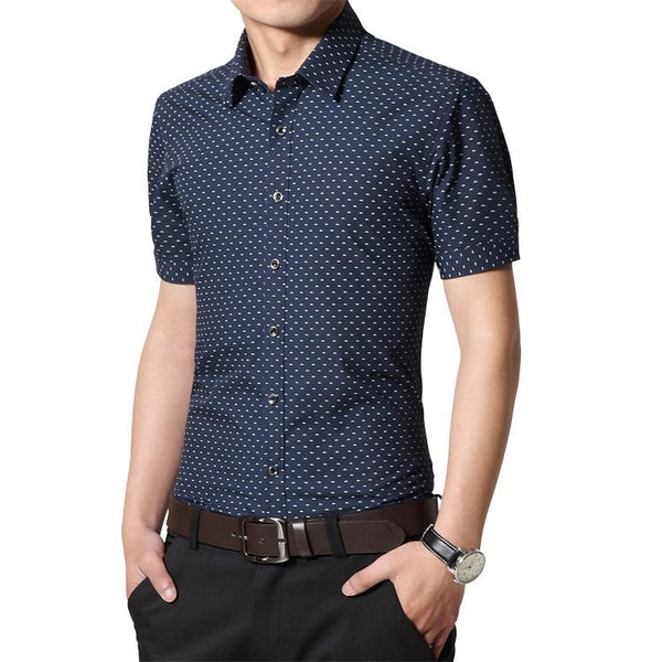 Designer Short Sleeve Dotted Shirts - Casual Shirts - eDealRetail - 6