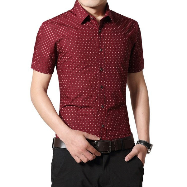 Designer Short Sleeve Dotted Shirts - Casual Shirts - eDealRetail - 5