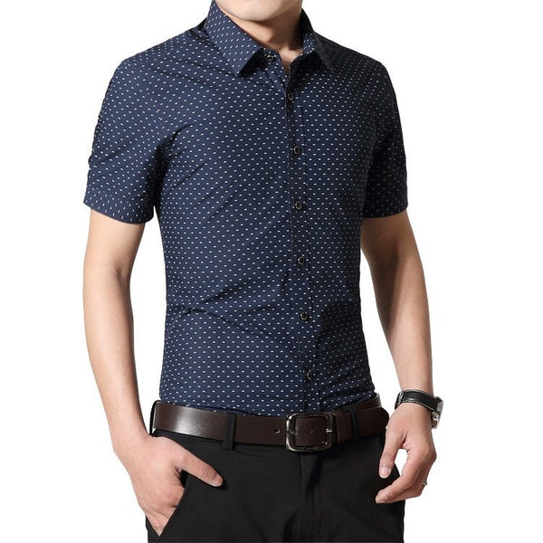 Designer Short Sleeve Dotted Shirts - Casual Shirts - eDealRetail - 7