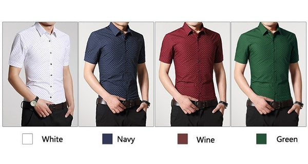 Designer Short Sleeve Dotted Shirts - Casual Shirts - eDealRetail - 10