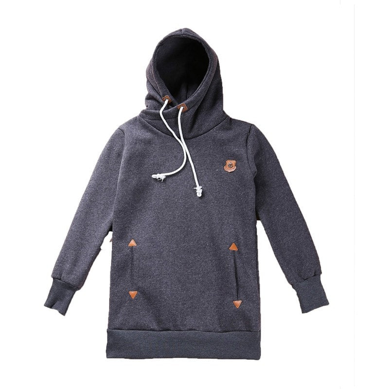 Funnel Neck Pullover Hoodies For Women - Hoodies - eDealRetail - 12