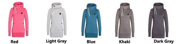 Funnel Neck Pullover Hoodies For Women - Hoodies - eDealRetail - 14