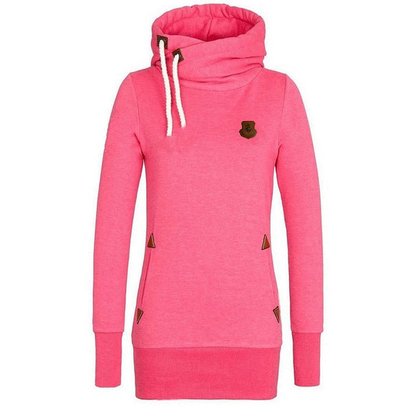 Funnel Neck Pullover Hoodies For Women - Hoodies - eDealRetail - 2