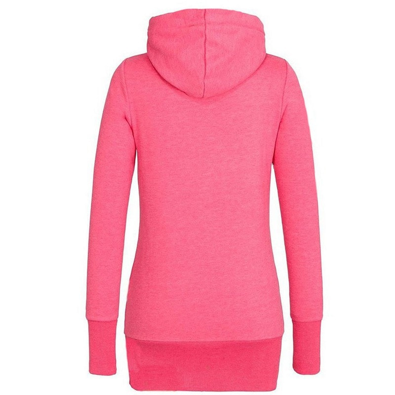 Funnel Neck Pullover Hoodies For Women - Hoodies - eDealRetail - 3