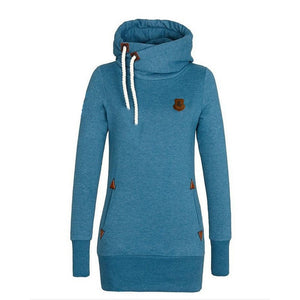 Funnel Neck Pullover Hoodies For Women - Hoodies - eDealRetail - 4