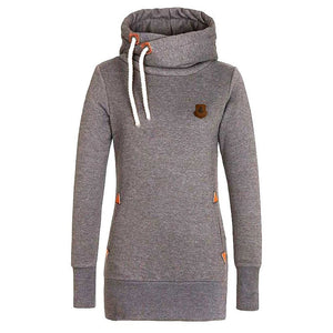 Funnel Neck Pullover Hoodies For Women - Hoodies - eDealRetail - 8