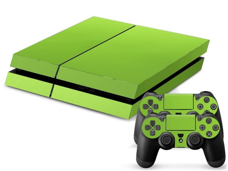 Green Leather Print PS4 Skin + 2 Controller Skins - PS4 Skins - eDealRetail - 1