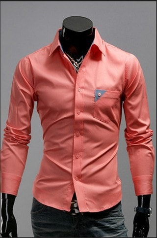 Men's Bright Leisure Self-Cultivation Shirts 4 Colors - Dress Shirts - eDealRetail - 2