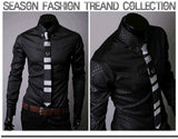 Fitted Shirts For Men Designer Plaid Stripes Pattern - Dress Shirts - eDealRetail - 10