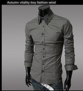 Fashion Long Sleeve Shirt Men's Cotton - Casual Shirts - eDealRetail - 9