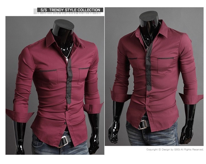 Long Sleeve Trendy Double Pocket Dress Shirts - Casual Shirts - eDealRetail - 2
