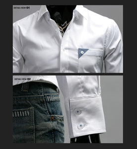 Men's Bright Leisure Self-Cultivation Shirts 4 Colors - Dress Shirts - eDealRetail - 9