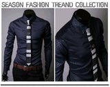 Fitted Shirts For Men Designer Plaid Stripes Pattern - Dress Shirts - eDealRetail - 11