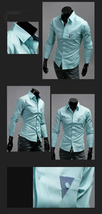 Men's Bright Leisure Self-Cultivation Shirts 4 Colors - Dress Shirts - eDealRetail - 10