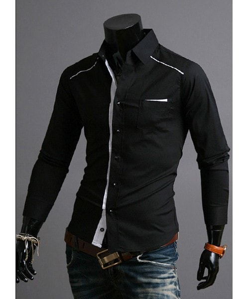 Mens Fashion Slim Fit Casual Dress Shirts - Casual Shirts - eDealRetail - 5