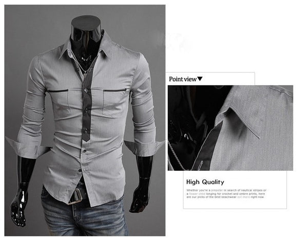 Long Sleeve Trendy Double Pocket Dress Shirts - Casual Shirts - eDealRetail - 6