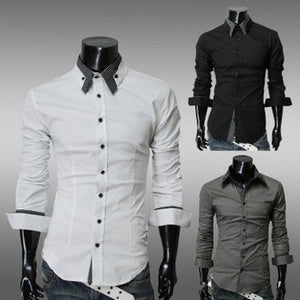 Fashion Long Sleeve Shirt Men's Cotton - Casual Shirts - eDealRetail - 1