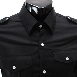 Casual Long Sleeve Solid Dress Shirts - Casual Shirts - eDealRetail - 4