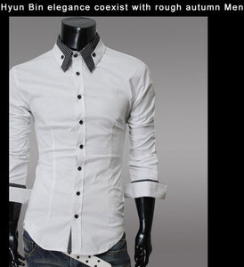 Fashion Long Sleeve Shirt Men's Cotton - Casual Shirts - eDealRetail - 6