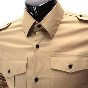 Casual Long Sleeve Solid Dress Shirts - Casual Shirts - eDealRetail - 6