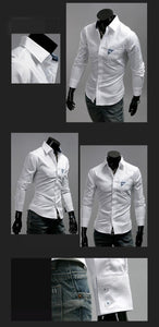 Men's Bright Leisure Self-Cultivation Shirts 4 Colors - Dress Shirts - eDealRetail - 6