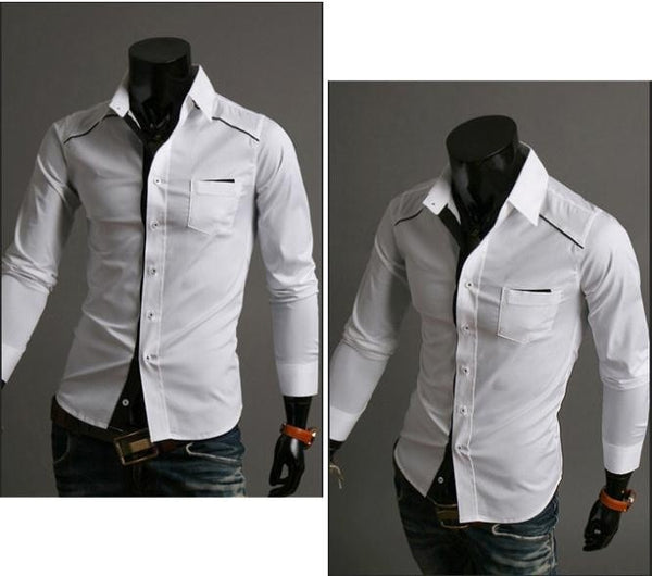 Mens Fashion Slim Fit Casual Dress Shirts - Casual Shirts - eDealRetail - 3