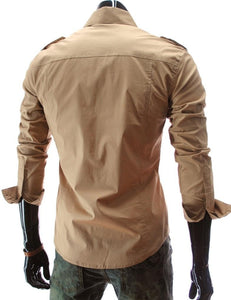 Casual Long Sleeve Solid Dress Shirts - Casual Shirts - eDealRetail - 10