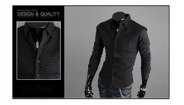 Stylish Park Dot Dress Shirts - Casual Shirts - eDealRetail - 3