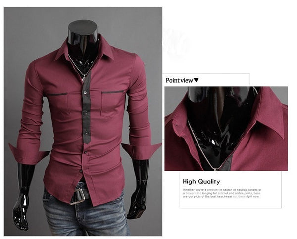 Long Sleeve Trendy Double Pocket Dress Shirts - Casual Shirts - eDealRetail - 9
