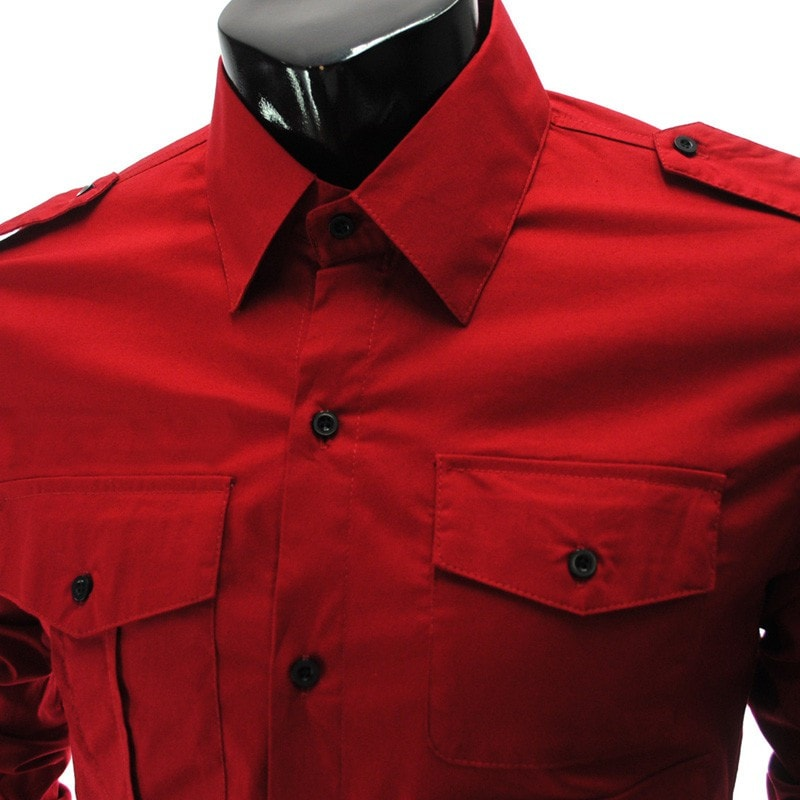 Casual Long Sleeve Solid Dress Shirts - Casual Shirts - eDealRetail - 13