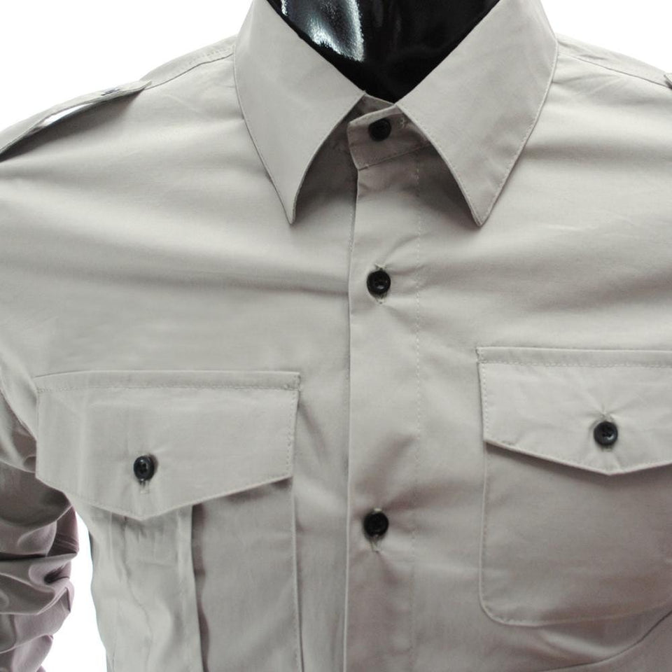 Casual Long Sleeve Solid Dress Shirts - Casual Shirts - eDealRetail - 14
