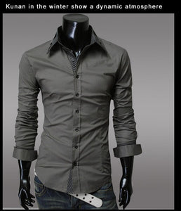 Fashion Long Sleeve Shirt Men's Cotton - Casual Shirts - eDealRetail - 2