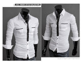 Long Sleeve Trendy Double Pocket Dress Shirts - Casual Shirts - eDealRetail - 5