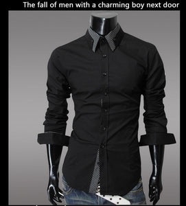 Fashion Long Sleeve Shirt Men's Cotton - Casual Shirts - eDealRetail - 3