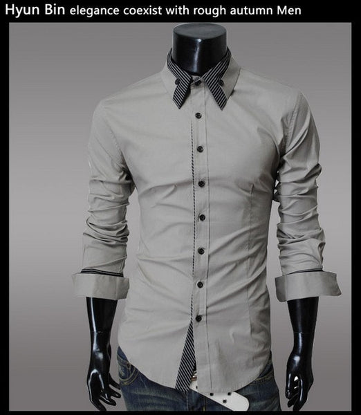 Fashion Long Sleeve Shirt Men's Cotton - Casual Shirts - eDealRetail - 4