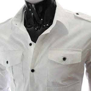 Casual Long Sleeve Solid Dress Shirts - Casual Shirts - eDealRetail - 2