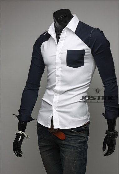 Sleeve Patch Pocket Long Sleeve Shirts - Casual Shirts - eDealRetail - 10