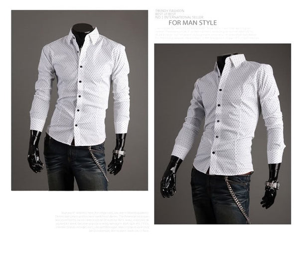 Stylish Park Dot Dress Shirts - Casual Shirts - eDealRetail - 2