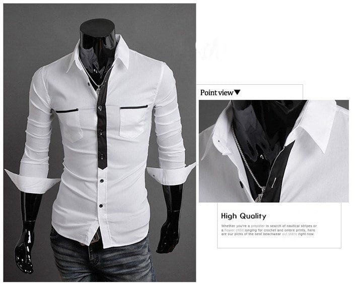 Long Sleeve Trendy Double Pocket Dress Shirts - Casual Shirts - eDealRetail - 8