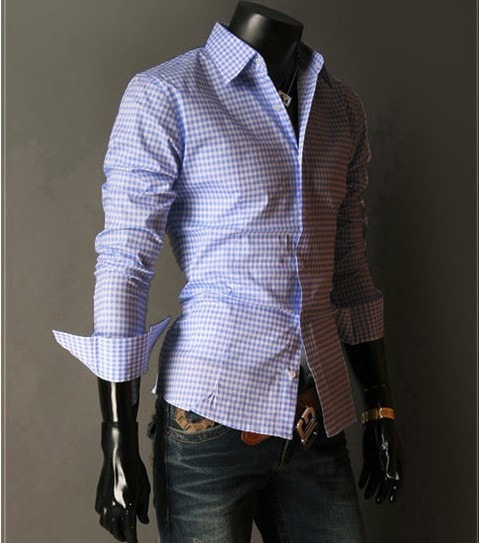 Spring French Plaid  Long Sleeve Collar Shirts - Casual Shirts - eDealRetail - 7