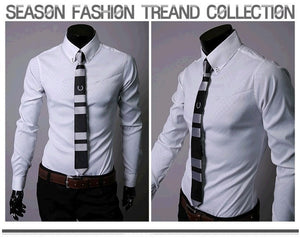 Fitted Shirts For Men Designer Plaid Stripes Pattern - Dress Shirts - eDealRetail - 8