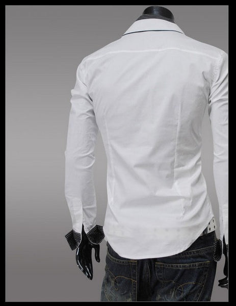 Fashion Long Sleeve Shirt Men's Cotton - Casual Shirts - eDealRetail - 7