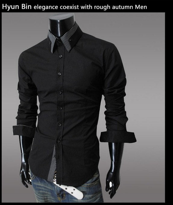 Fashion Long Sleeve Shirt Men's Cotton - Casual Shirts - eDealRetail - 8